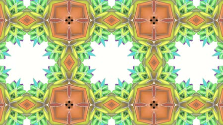 multicolorido : multicolored abstract animated patterns. kaleidoscope. 3d render