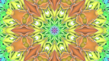 a form : multicolored abstract animated patterns. kaleidoscope. 3d render