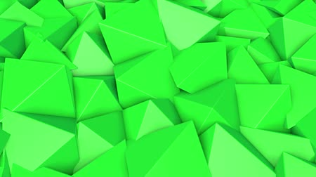 screen saver : rows of green pyramids slowly moving. abstract. 3d rendering