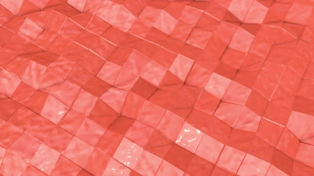 abstrakcja : coral wave surface is slowly deformed. animation. 3d rendering