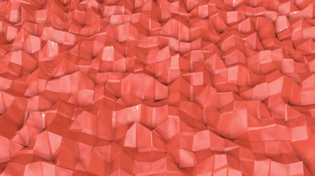 orange : coral wave surface is slowly deformed. animation. 3d rendering