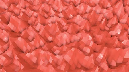 screen saver : coral wave surface is slowly deformed. animation. 3d rendering