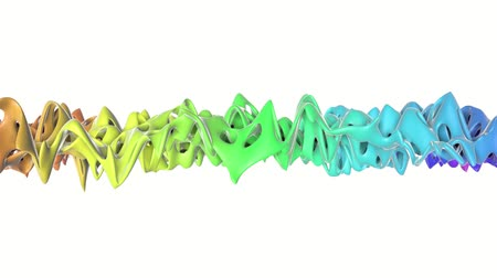 abstrakcja : openwork multi-colored smooth plane slowly deformed. 3d rendering