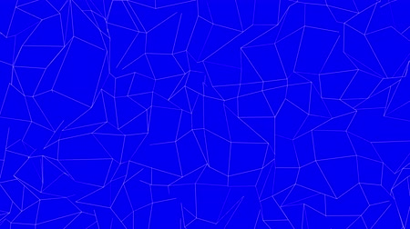 mesh : white mesh is deformed on a blue background. 3d rendering Stock Footage