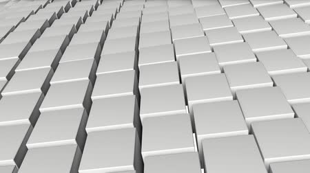 beyazlar : background of white three-dimensional cubes. animation. 3d rendering Stok Video