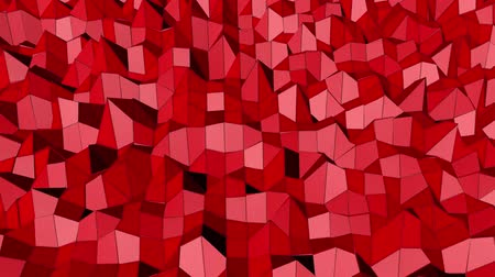 Red abstract animated low poly. 3d rendering Filmati Stock