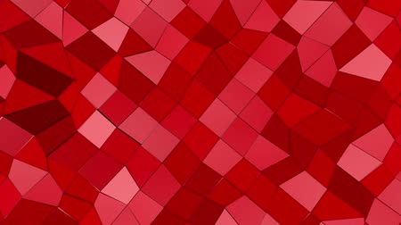 escarlate : Red abstract animated low poly. 3d rendering Stock Footage