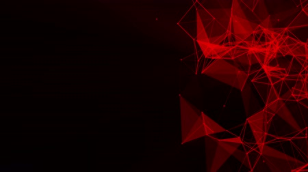 pontos : red particles and triangles fly slowly against a black. 3d rendering Vídeos
