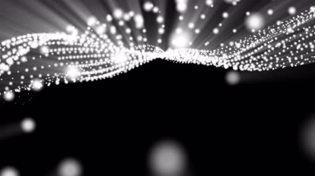 samolot : white light emitting animated particles. abstract. 3d rendering Wideo