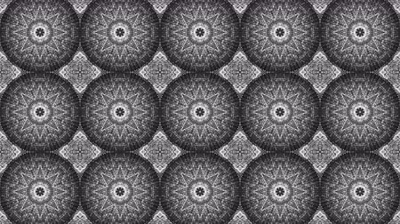 Animated kaleidoscope screensaver of white round particles. abstract. 3d rendering Filmati Stock