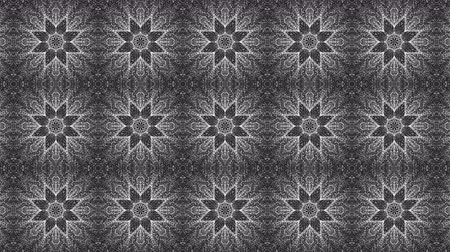 beyazlar : Animated kaleidoscope screensaver of white round particles. abstract. 3d rendering Stok Video