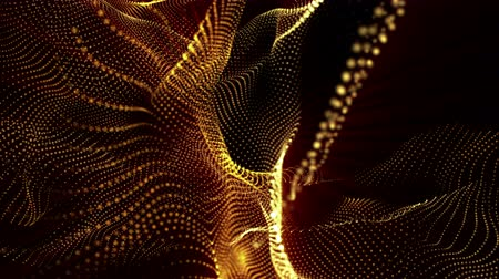 animated looped background of glowing particles. 3d render Dostupné videozáznamy