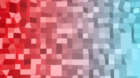 screen saver : animated looped low poly colorful. 3d render Stock Footage
