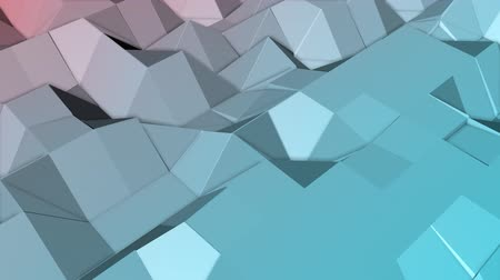 animated looped low poly colorful. 3d render Dostupné videozáznamy