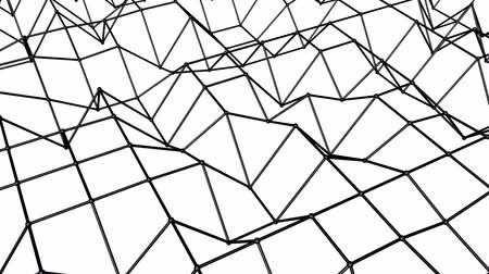 animated looped background of polygonal mesh. 3d render Dostupné videozáznamy