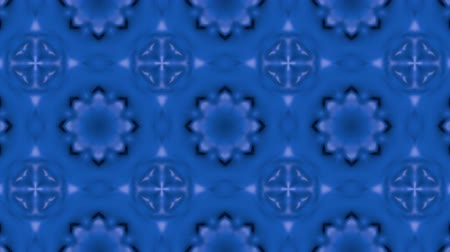 köşeler : Abstract looped blue background. 3d render Stok Video