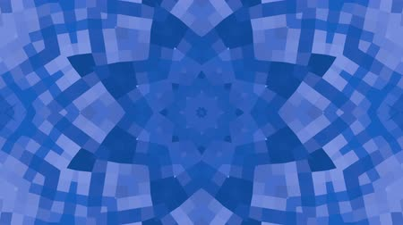 углы : Abstract looped blue background. 3d render Стоковые видеозаписи
