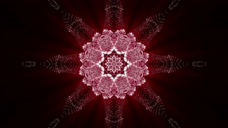 калейдоскоп : Abstract looped red-orange background. glowing patterns. 3d render