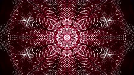 углы : Abstract looped red-orange background. glowing patterns. 3d render
