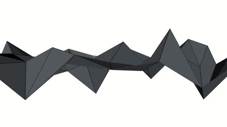 screen saver : dark low poly plane is slowly deformed. 3d abstract animation