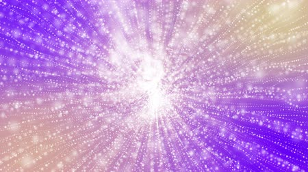 beyazlar : white particles move slowly on a purple background. 3d render abstract