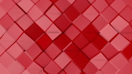 a form : Red animated low poly. 3d rendering