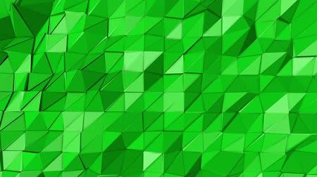 canto : green animated low poly. 3d rendering Stock Footage