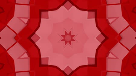 three dimensional : Red three-dimensional kaleidoscope background. abstract . 3d render