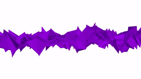 narożnik : purple low poly surface is slowly deformed. background. 3d rendering Wideo