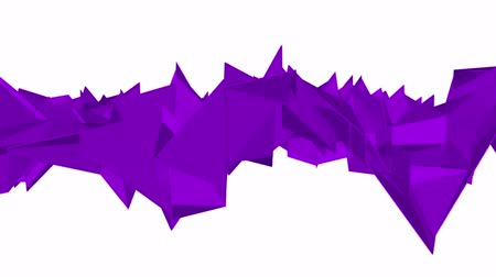 углы : purple low poly surface is slowly deformed. background. 3d rendering Стоковые видеозаписи