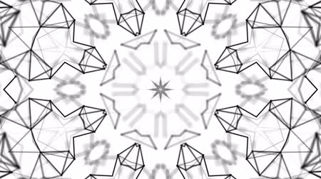 pontos : black and white animated pattern. Abstract moving kaleidoscope. 3d rendering Vídeos