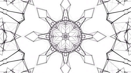 abstrakcja : black and white animated pattern. Abstract moving kaleidoscope. 3d rendering Wideo