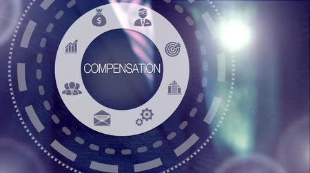 compensar : Businessman pressing a Business Compensation concept
