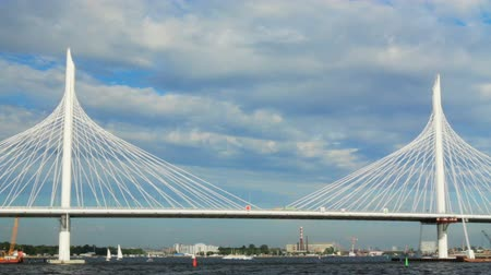 gazprom : Russia St. Petersburg Gulf Cable-stayed bridge