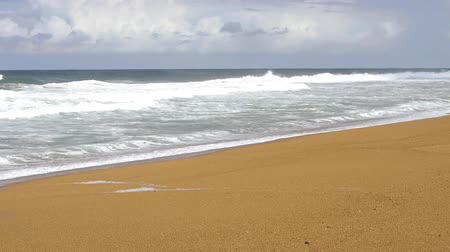 sicília : Video of Sand Atlantic Beach with ocean surf