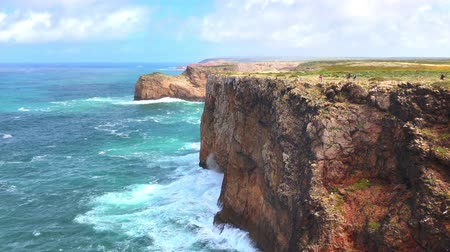 západ : Beautiful Cape St Vincent cliffs on the Algarve coast of Portugal
