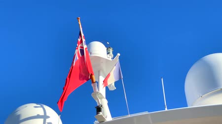 Video of Communication antennas on a luxury yacht