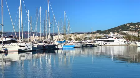 kotva : FRANCE, CANNES - JANUARY 10, 2019: View of the Marina of Cannes, French Riviera, France