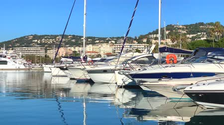FRANCE, CANNES - JANUARY 10, 2019: French Riviera, France. Video 4K Dostupné videozáznamy