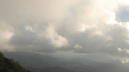 Time Lapse of clouds moving on high mountain in Northern of Thailand.