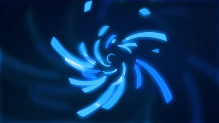 movements : Abstract background with moving lines creating a blue loop swirl loop with matt brush Stock Footage