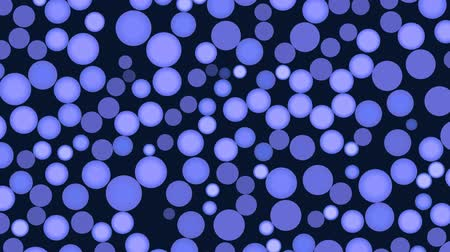 esferas : Blue full-spheres slowly rotate and flicker on a dark blue background.