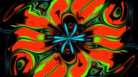 Abstract Changing Flower. The flower changes its colors and bright saturated colors. Wideo