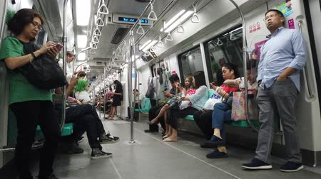 митрополит : Inside of singapore MRT train