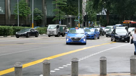 compacto : Singapore car and taxi on orchad road Vídeos