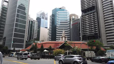 compacto : Singapore financial buildings and busy city at financial centre in singapore Vídeos