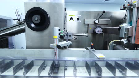 wort : plant picture, clean room equipment and stainless steel machines Stock Footage