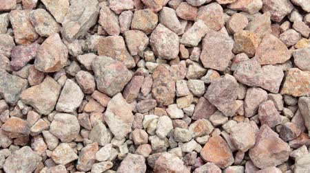 usual : Close up river stones background Stock Footage