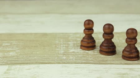 usual : Chess pack of black pawns Stock Footage