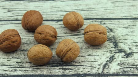 usual : Brown usual walnuts Stock Footage